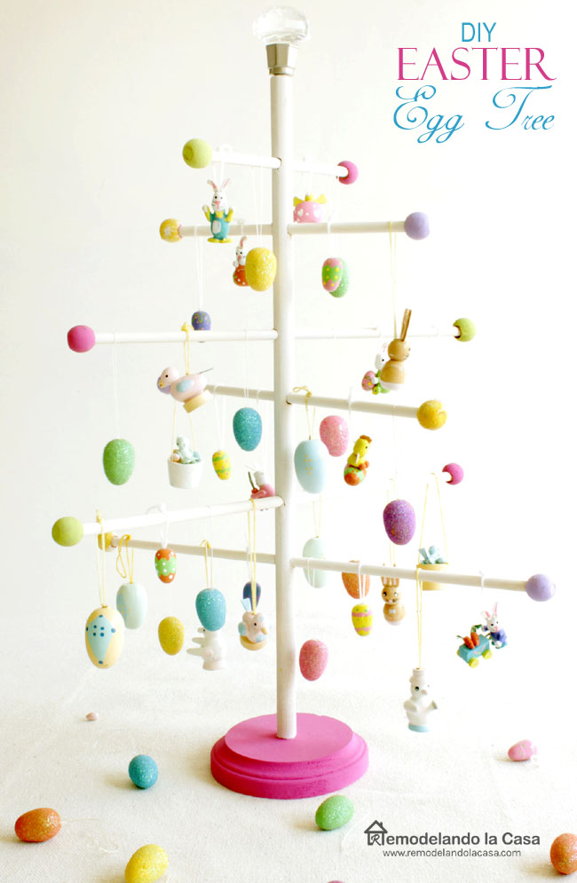 DIY - Easter egg tree with dowels