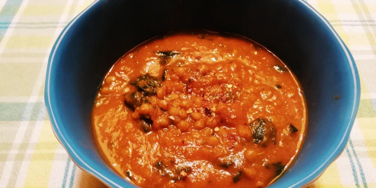 Zuppa agrodolce alla zucca, lenticchie e pumpkin spice
