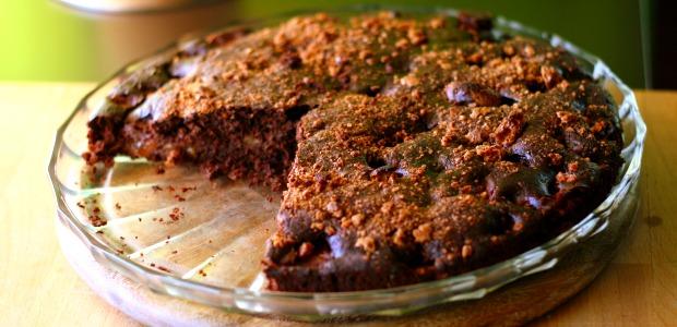 Torta Al Cioccolato Pesche E Amaretti Mangiamondo