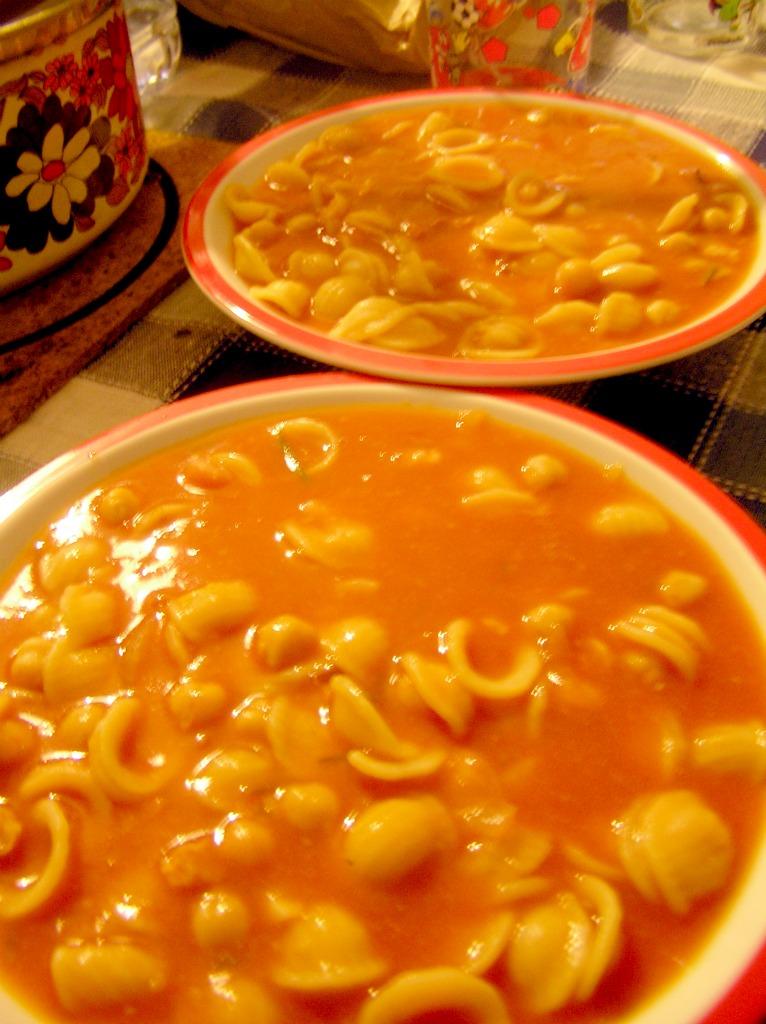 Zuppa golosa di ceci e pancetta